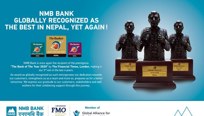 NMB Bank Bags 'the Bank of the Year 2020', Thrice in 4 Years